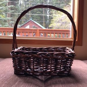 Other - Decorative rectangular basket with handle